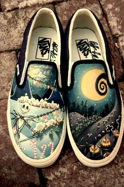 ... nightmare before Christmas Jack skellington slip on vans. I love these.  I love these Jumpers 1bf79d0a1674