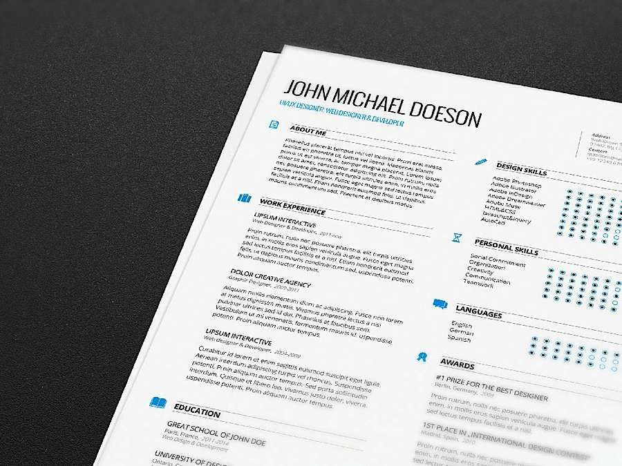 Resume Design Inspiration Free Resume Templates  Abduzeedo Design Inspiration  Design