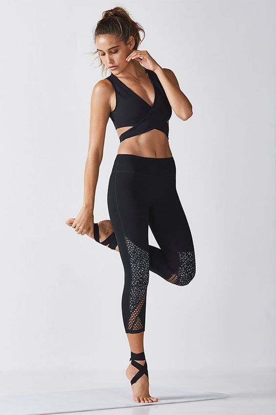 0a8ae3c461 Cross over to the sexier side in our wrap-around sports bra and all ...