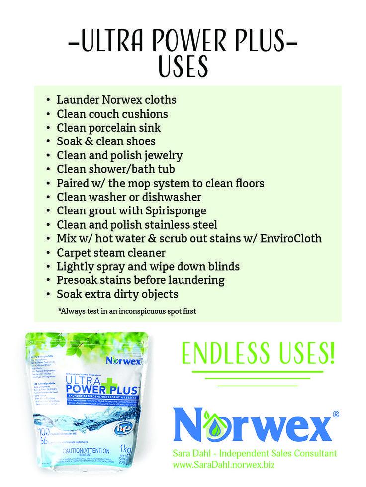 Ultra Power Plus Uses Norwex Laundry Detergent Norwex