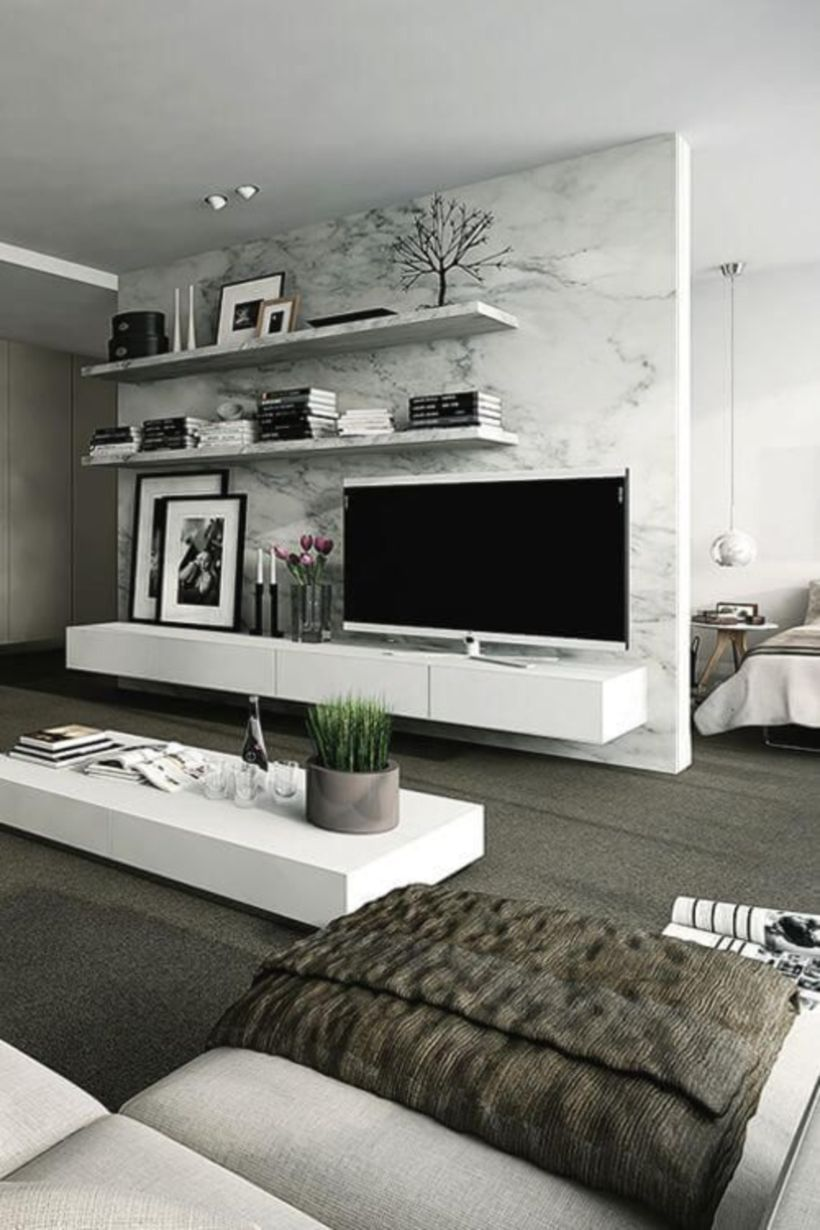 40 Modern Apartment Living Room Design Ideas | Häuschen