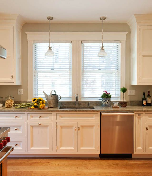 Beautiful kitchen with flush front kitchen cabinets ...