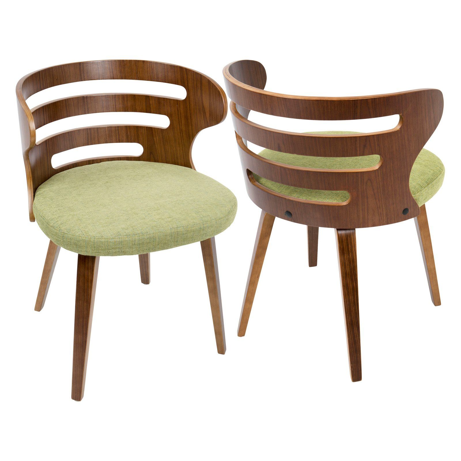 Terrific Lumisource Cosi Mid Century Modern Fabric Dining Chair Green Ibusinesslaw Wood Chair Design Ideas Ibusinesslaworg