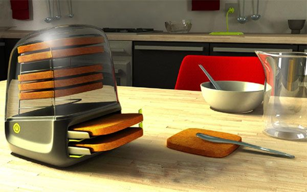 Toastit with rechargeable base toasts bread right on the breakfast table! #LGLimitlessDesign #Contest