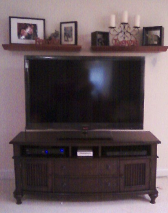 Love The Idea Of Shelves Above The Tv Then Make It A Mantle For Christmas Decor Tv Decor Tv Wall Decor Above Tv Decor
