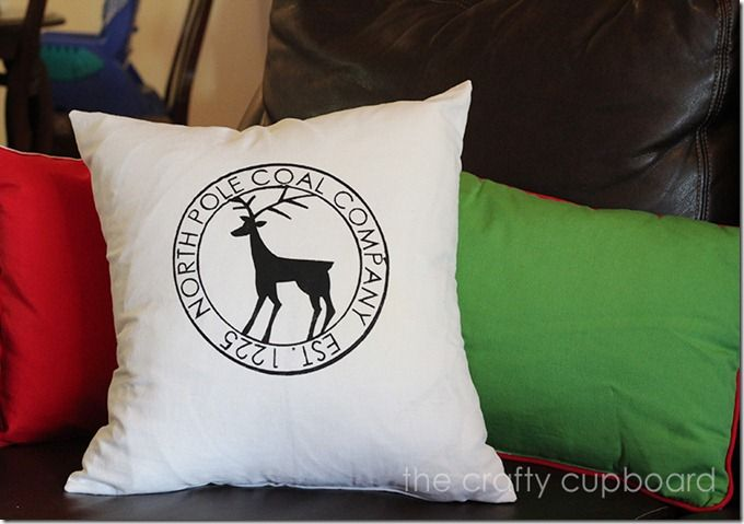 North Pole Coal Co. Pillow by the Crafty Cupboard