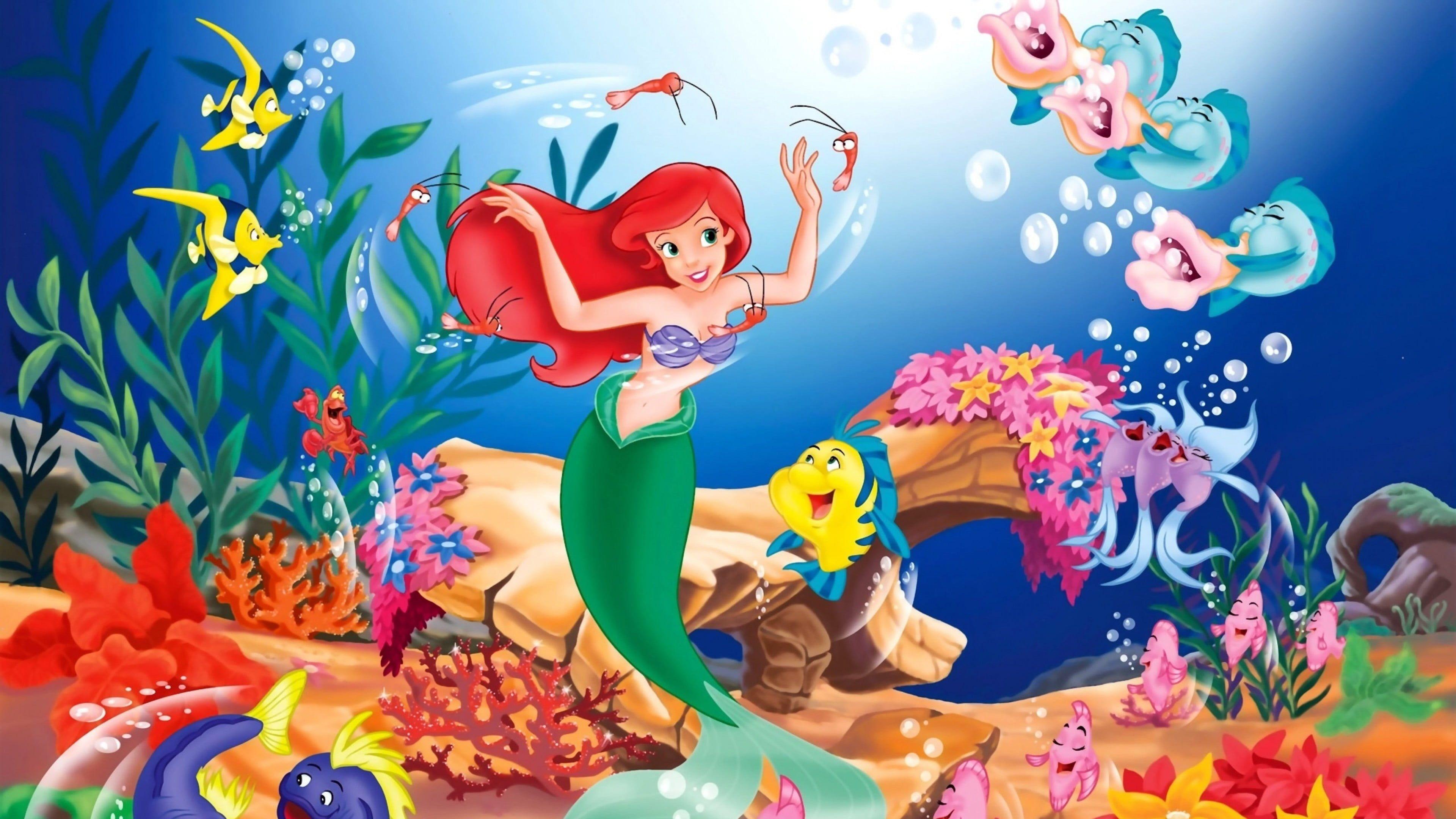 Disney Little Mermaid Underwater Wallpaper Fantasy Art Digital Art