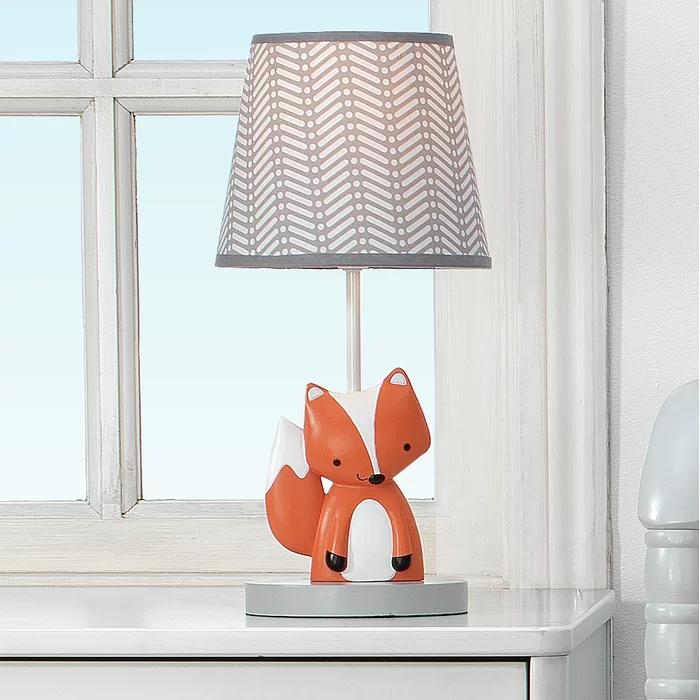 Acorn 14 25 Table Lamp Nursery Lamp Kids Lamps Fox Baby Room