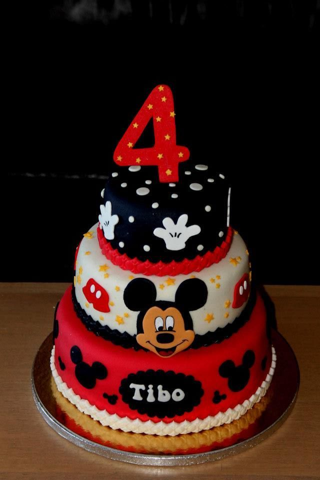 Mickey Mouse Cake Use Color Sheet And Icing Freeze For Mickeys