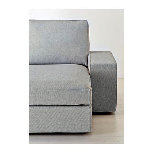 KIVIK Sofá de 2 plazas y chaiselongue Orrsta gris claro IKEA