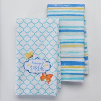 Sonoma Life Style 2 Pc Happy Spring Kitchen Towel Set
