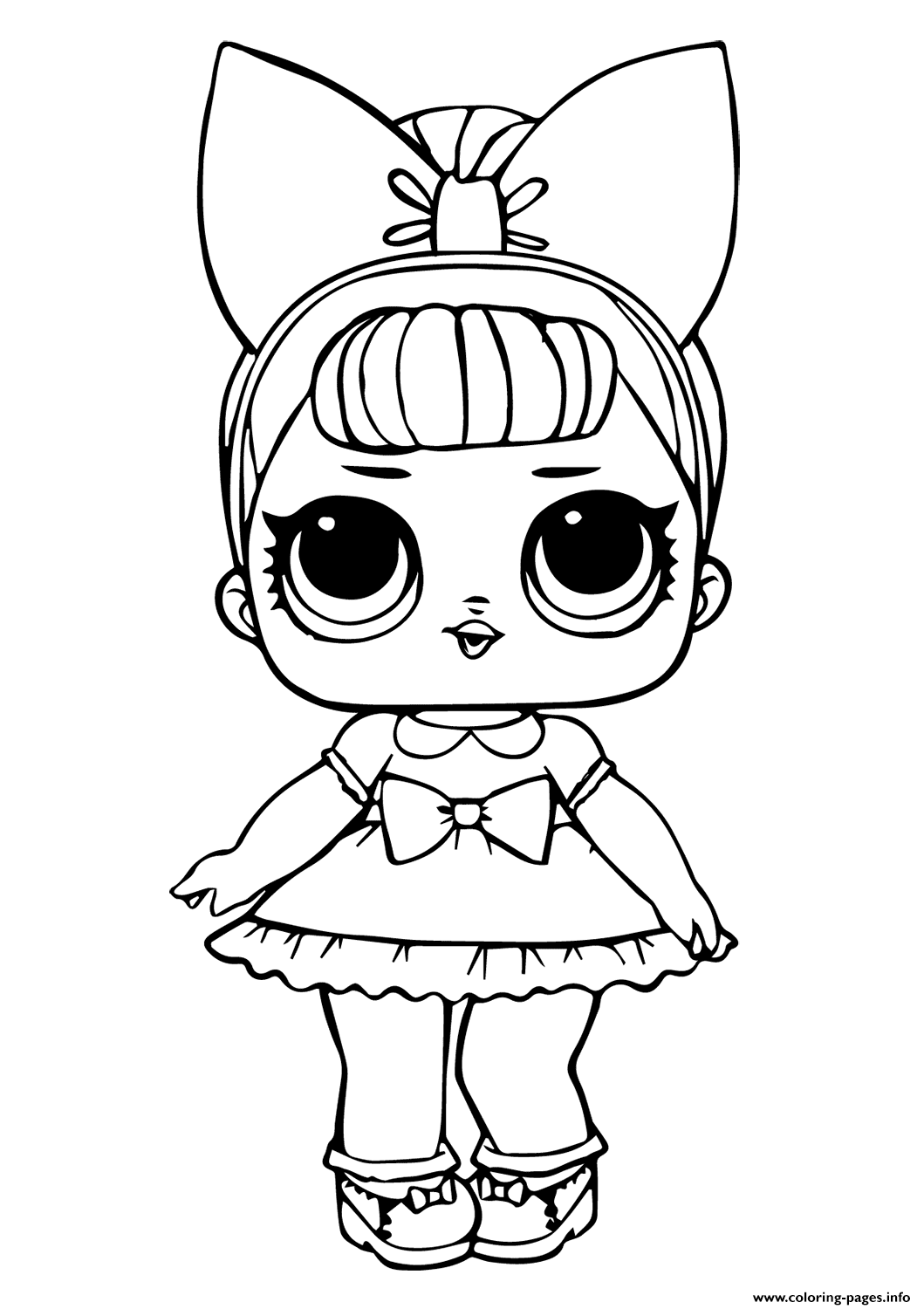 Print Doll Fancy Glitter Coloring Pages