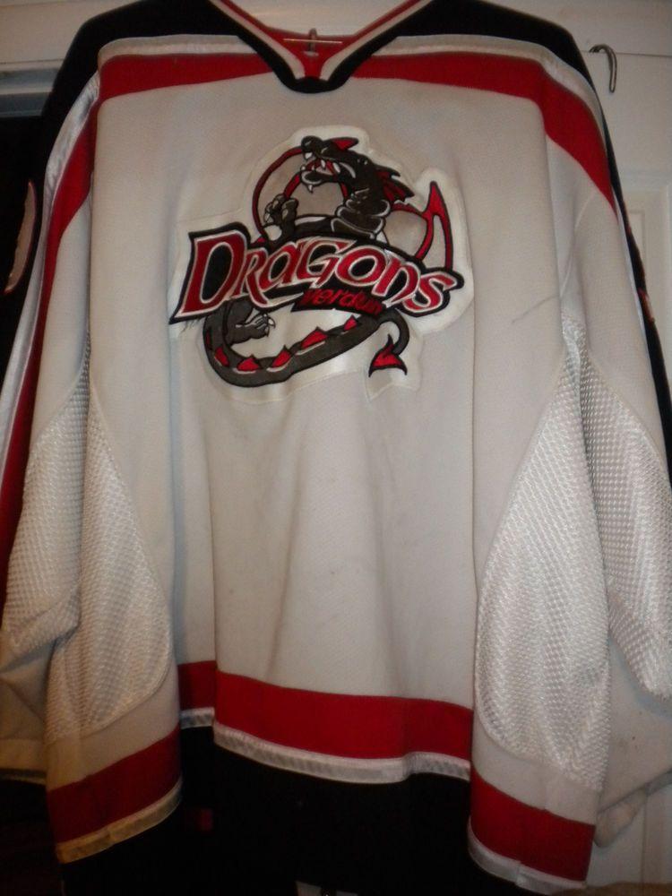 425c4c26b45 LNAH AHL ECHL UHL 2005-06 VERDUN DRAGONS GAME WORN MICHEL MASSIE HOCKEY  JERSEY (eBay Link)
