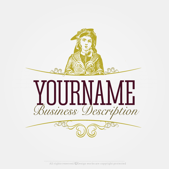 Online Logo Creator Vintage Woman Label Logo Template Online Logo Creator Online Logo Logo Templates