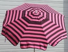 pink black stripe 6ft patio outdoor bistro market restaurant umbrella furniture