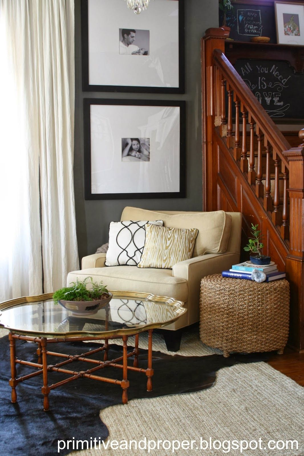 Best Primitive Proper Chic Gray And Gold Living Room Gold 640 x 480