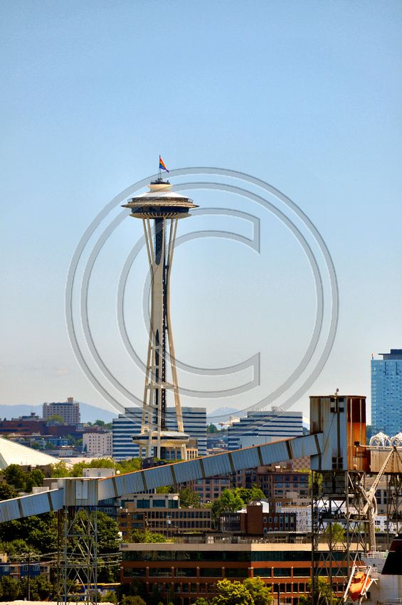 Space Needle With Pride Flag This And Thousands Of Other High Quality Royalty Free Digital Photos Are Availabl Free Digital Photos Photography Portfolio Photography
