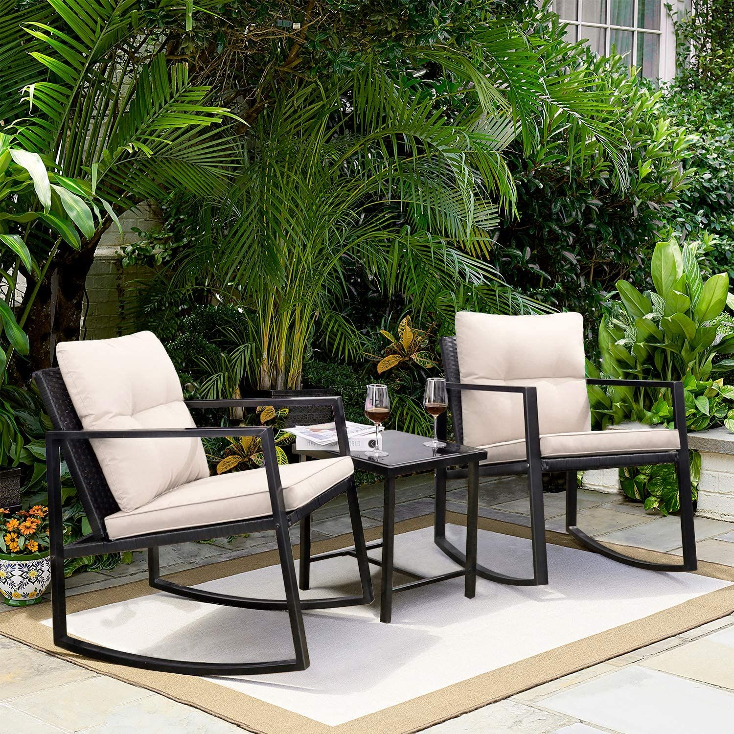 Jaz Metal 4 Seater Coffee Table Set Coffee Table Setting Garden Furniture Sets Outdoor Furniture Sets [ 1500 x 1500 Pixel ]