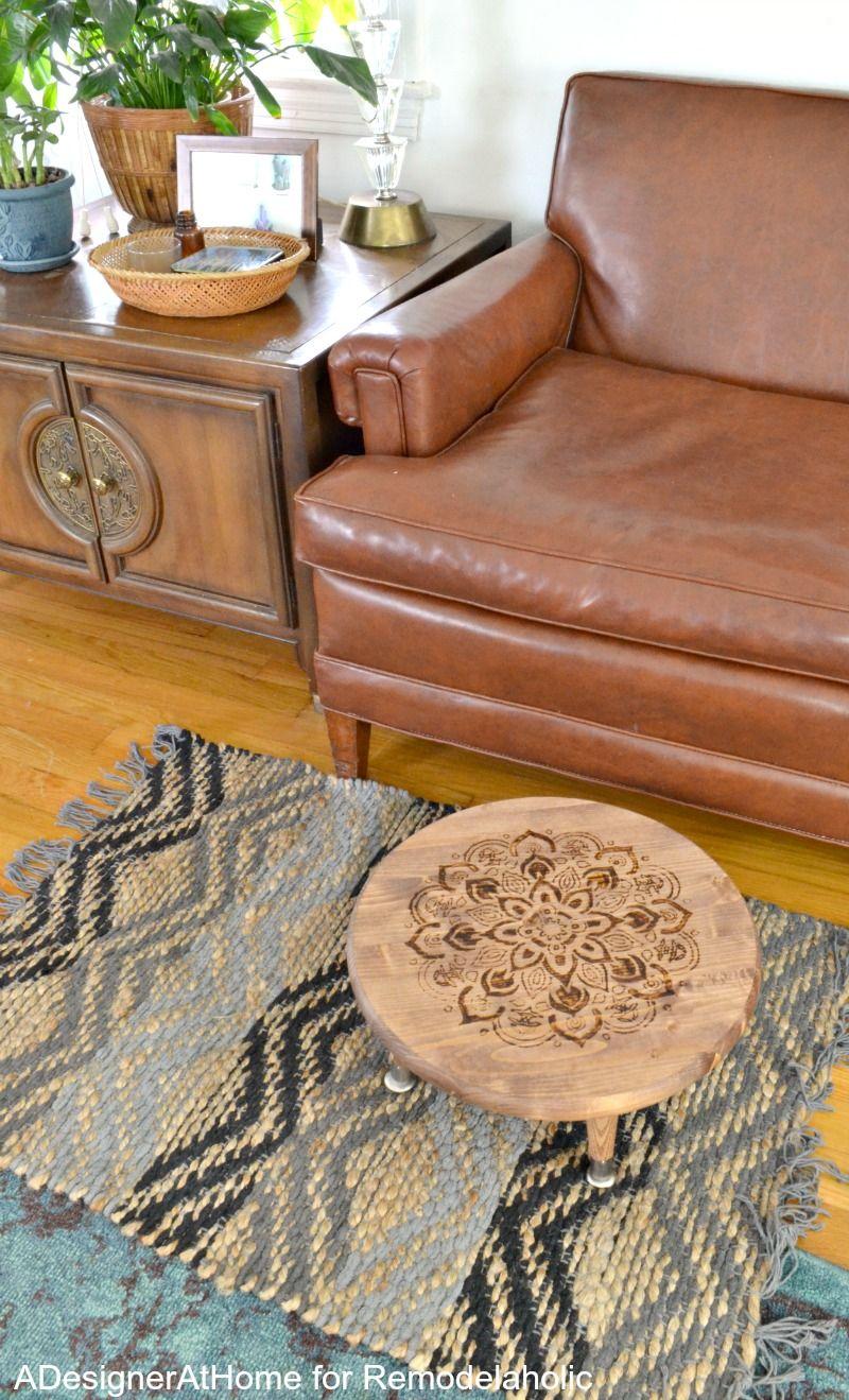 Boho style DIY planter stool or ottoman -- easy and fun to make!