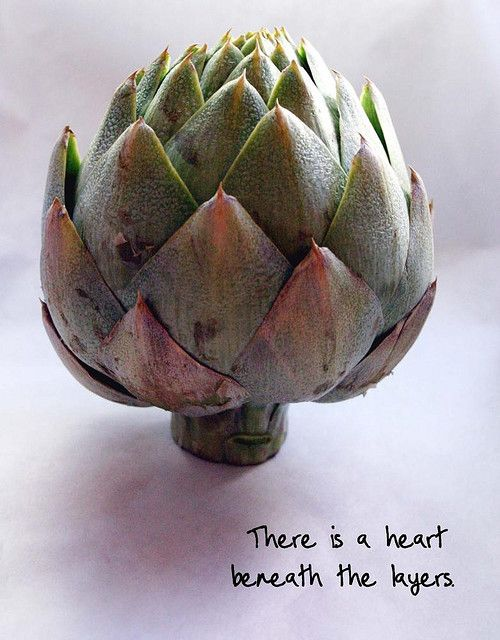 sometimes you have to go through the several layers to get to the heart.