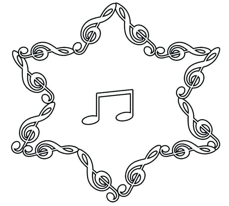 Music Notes Christmas Coloring Pages