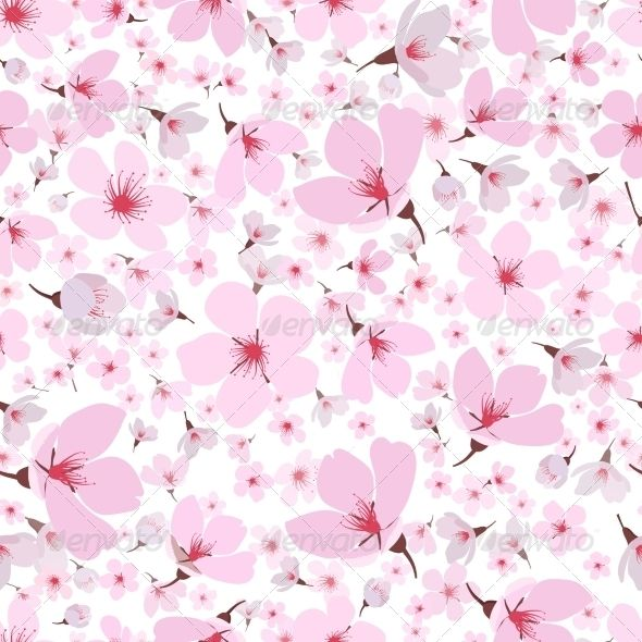 Sakura Pattern Fonts Logos Icons Pinterest Background Patterns
