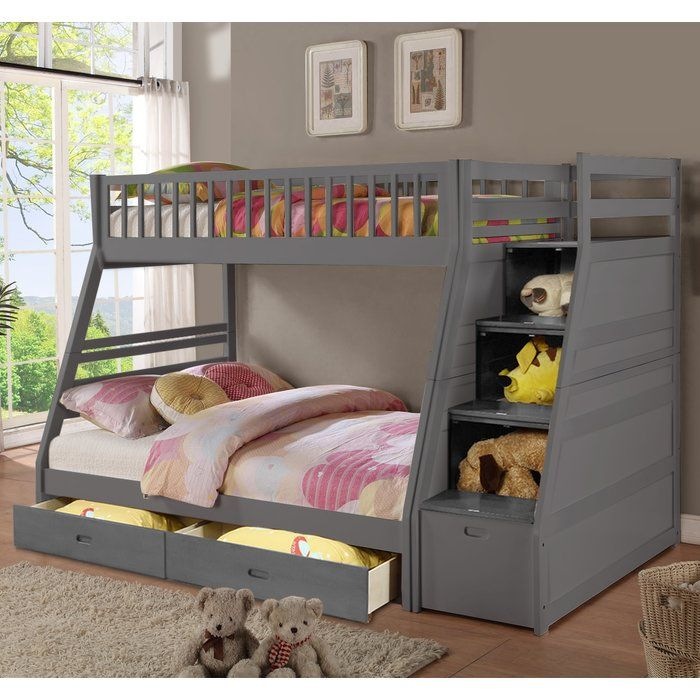 Walter Twin Over Full Bunk Bed with Drawers Kid's Room