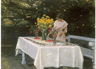 Michael Ancher - (Laying) Preparing the Table