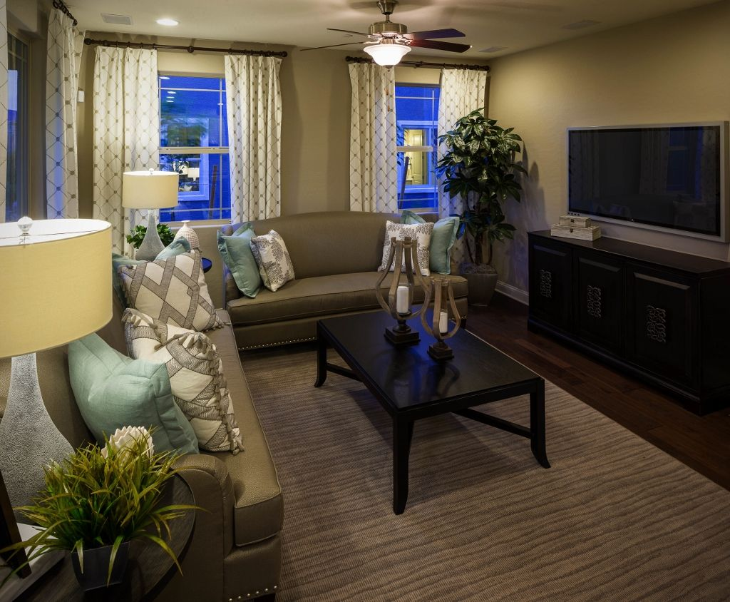 Blue apron richmond ca - Living Room In The Lawson Model By Richmond American Homes In Cadence