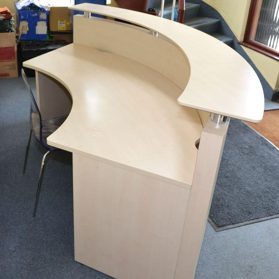 Half Circle Reception Desks For 3 People Furniture Corporate Office