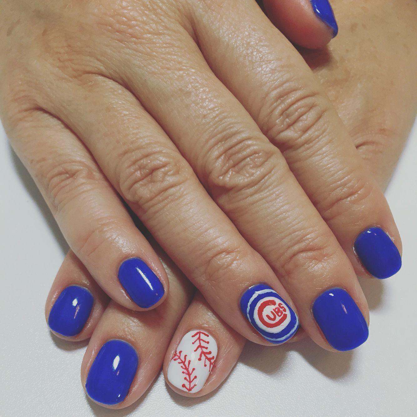 Chicago Cubs nails 6/15/16 by Tomoka Kanazawa | reg | Pinterest ...