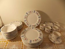 pfaltzgraff bonnie brea  | Pfaltzgraff Bonnie Brae Service for 8, 38 pieces flowers and stripes ...