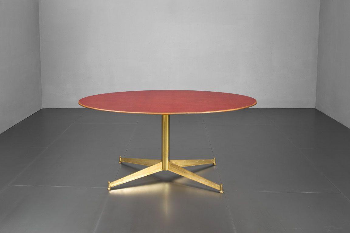 Tavolo Ovale ~ Ignazio gardella tavolo ovale gamba in ottone lucido piano in