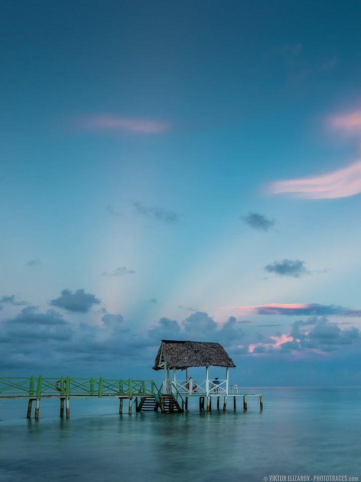 HDR Landscape Sunrise At Cayo Coco Beach Cuba