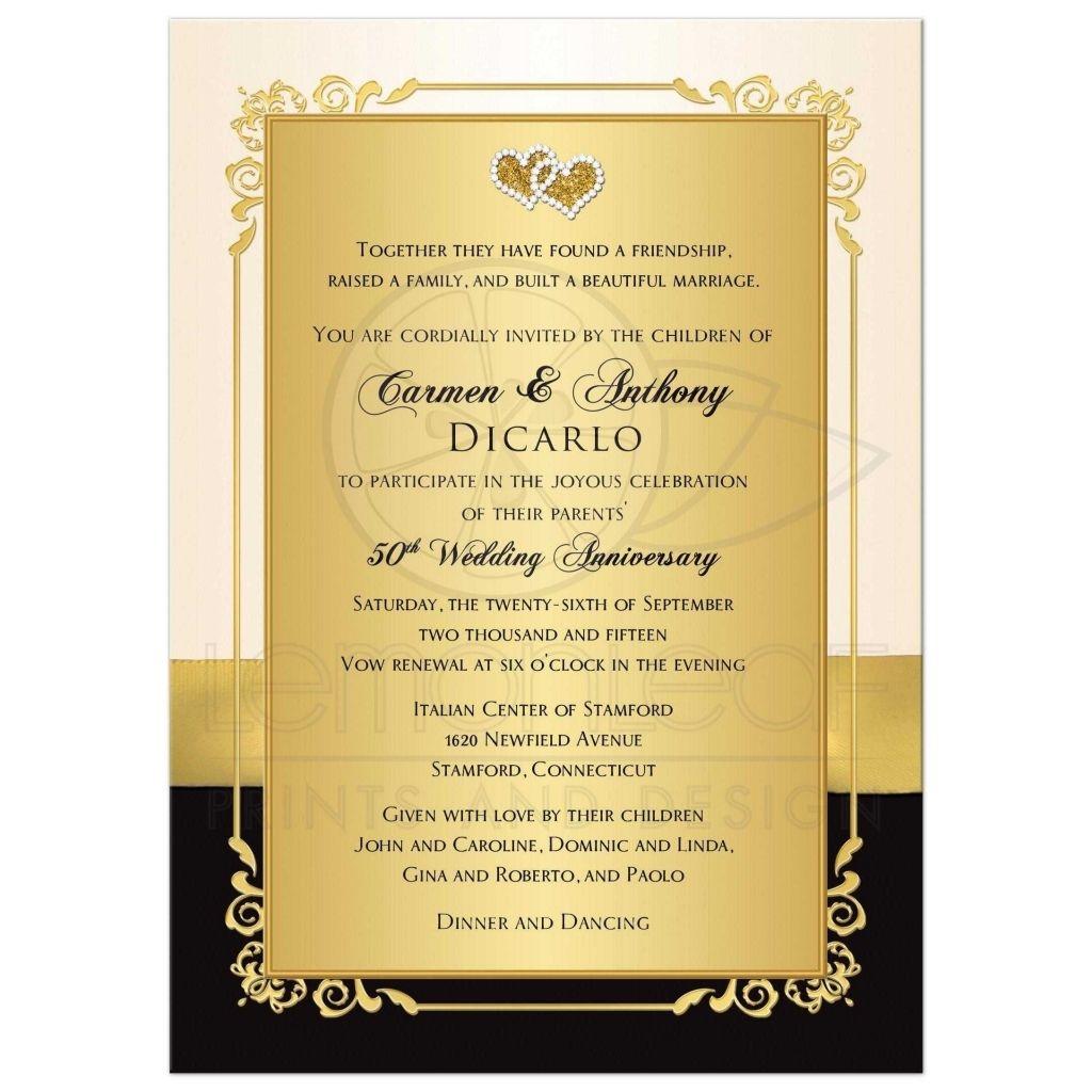 Pin On Wedding Anniversary 2020: 50th Anniversary Invitations, 50th