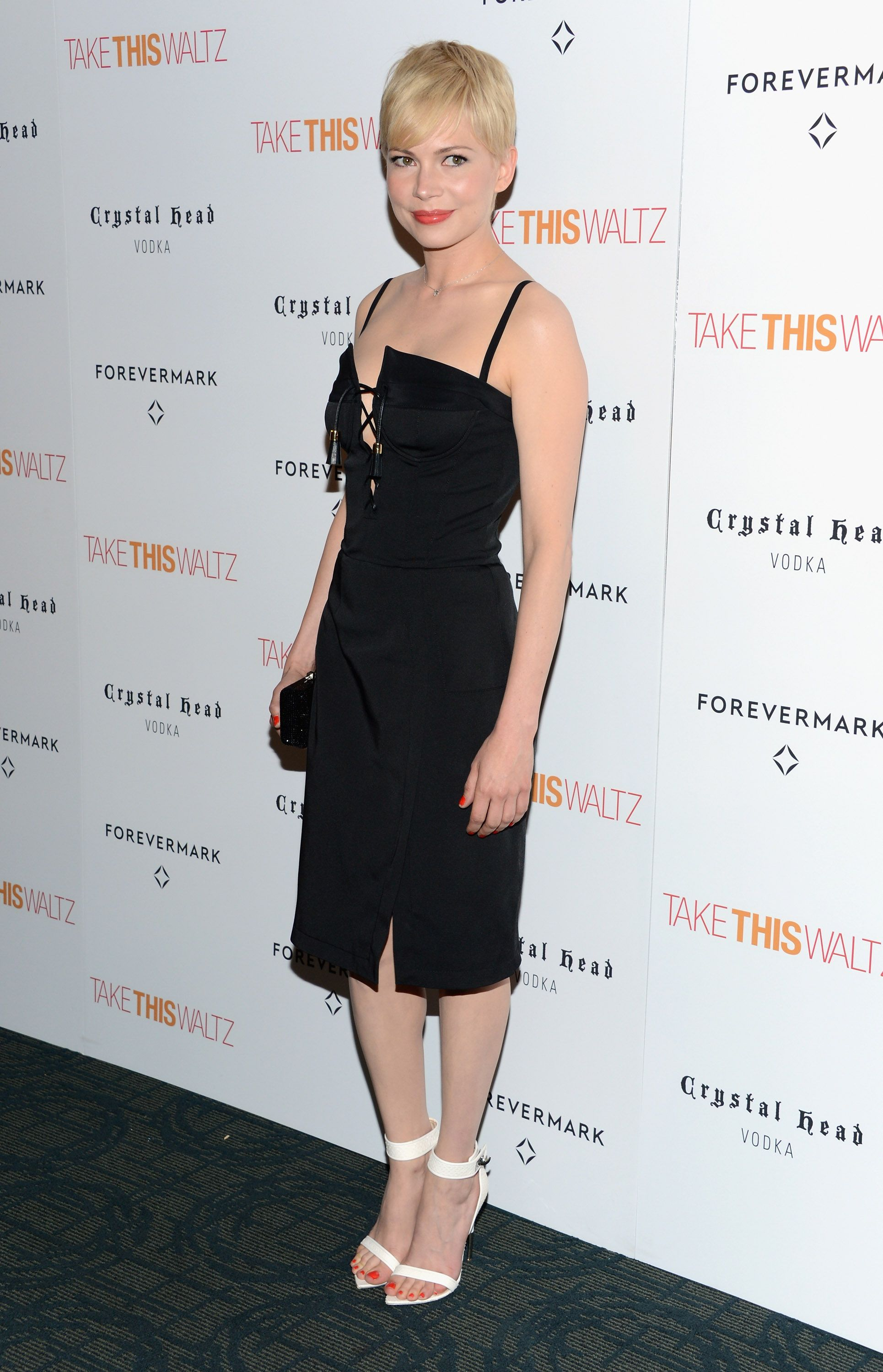 Michelle Williams Wears an Edgy LBD For a Special Premiere - www.popsugar.com