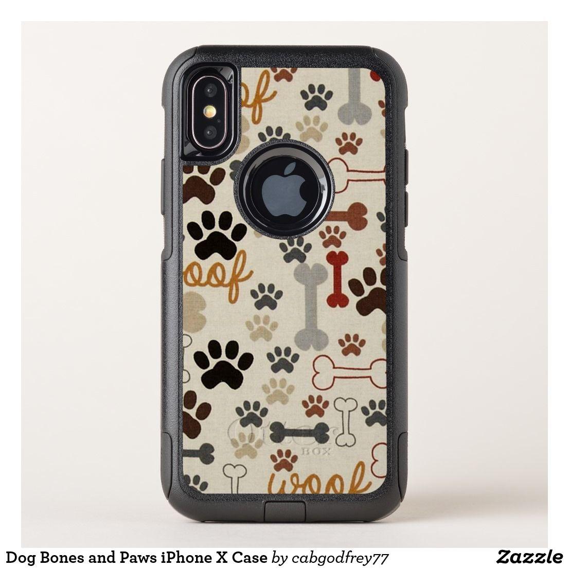 Dog bones and paws iphone x case dog bones