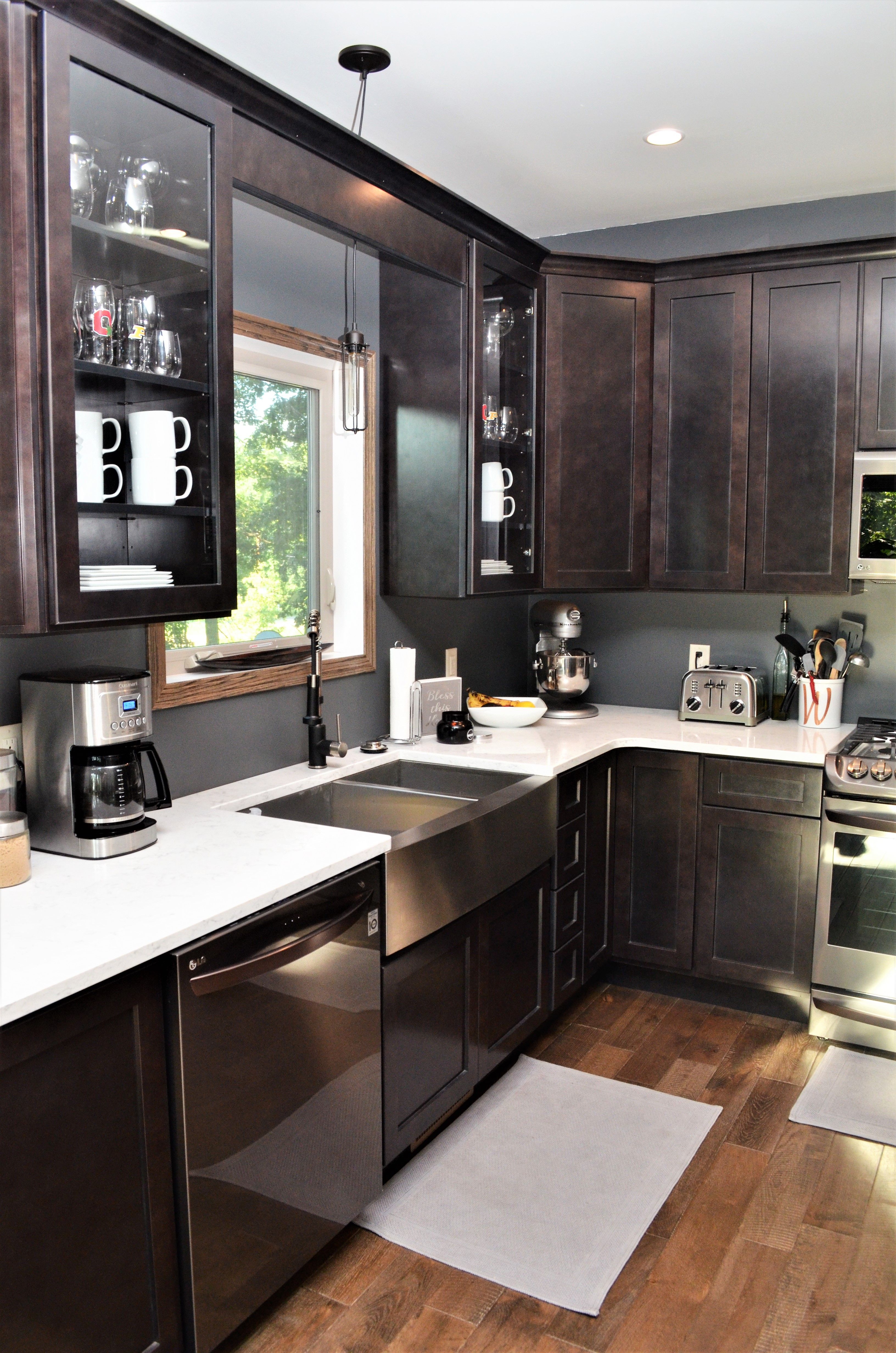 Haas Cabinetry Wood Species: Maple Cabinet Finish: Slate ... on Countertop Colors For Maple Cabinets  id=30065