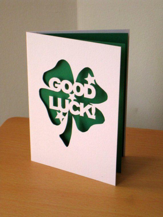 Good luck card - source google Good Luck Cards Pinterest - good luck card template