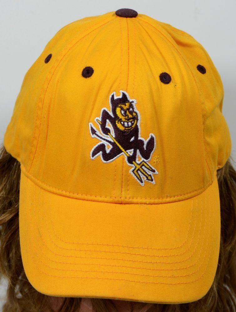 66b951066 SOLD! ASU Gold Hat Arizona State University Sun Devils Cotton ...