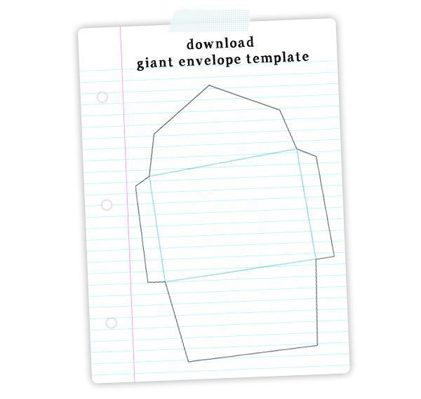 free Giant Envelope Template download DIY - Crafty   Create - small envelope template