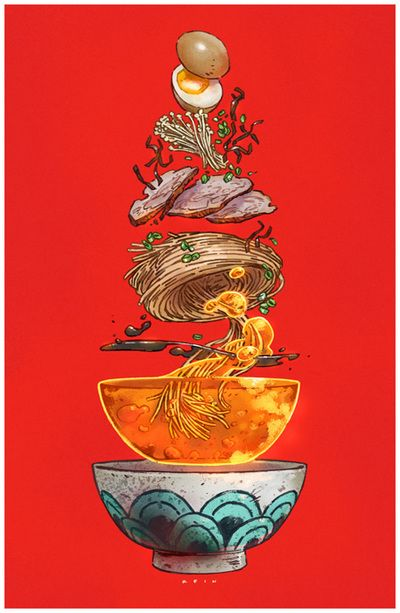 Tonkatsu Ramen Print from Paul Reinwand
