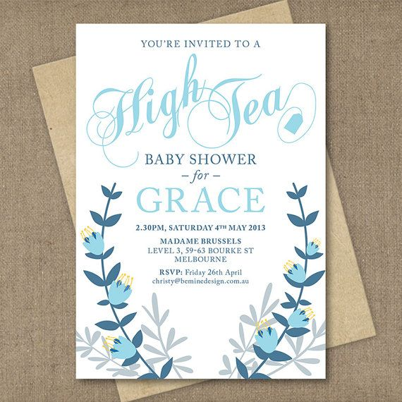High tea baby shower invitation custom by beminedesignstudio baby high tea baby shower invitation custom by beminedesignstudio filmwisefo Choice Image