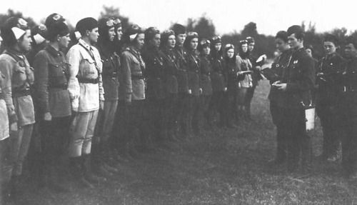 """Night Witchesis the World War II nickname for the female military aviators of the 588th Night Bomber Regiment, known later as the 46th """"Taman"""" Guards Night Bomber Aviation Regiment."""