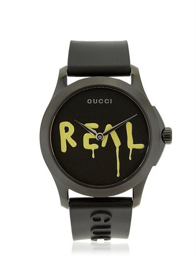 97ac8e20e82 GUCCI Ghost Real G-Timeless Rubber Watch
