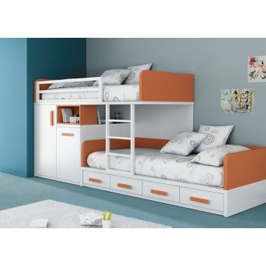 lits superpos s train 190x90 avec tiroirs et armoire sara bunk beds toddler bunk beds et bed