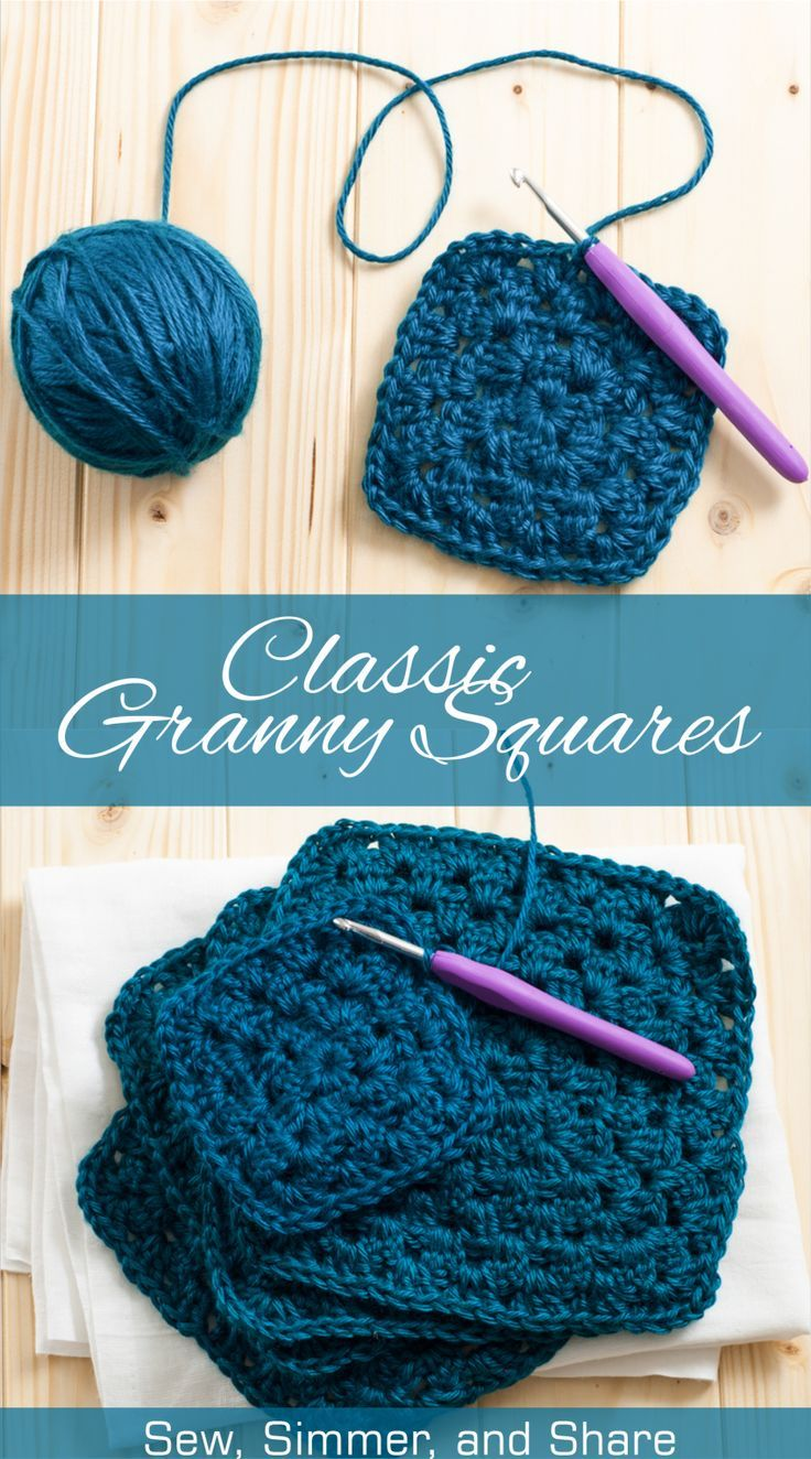 Learn How To Crochet This Classic Granny Square Pattern To Use For  Blankets, Pillows, Stuffed Animals, And More!e Back To Learn How To Join Asyougo
