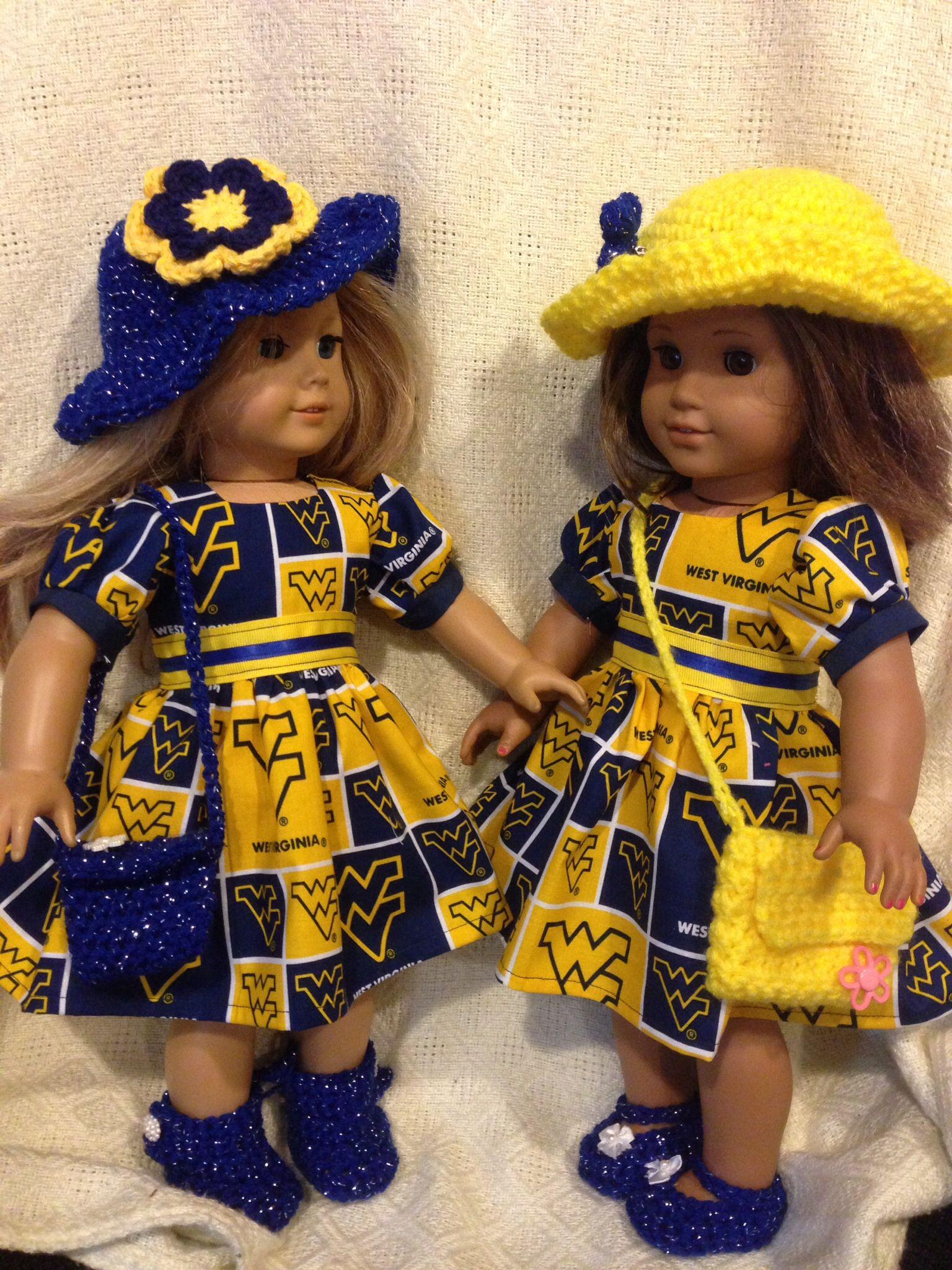 WVU american girl doll