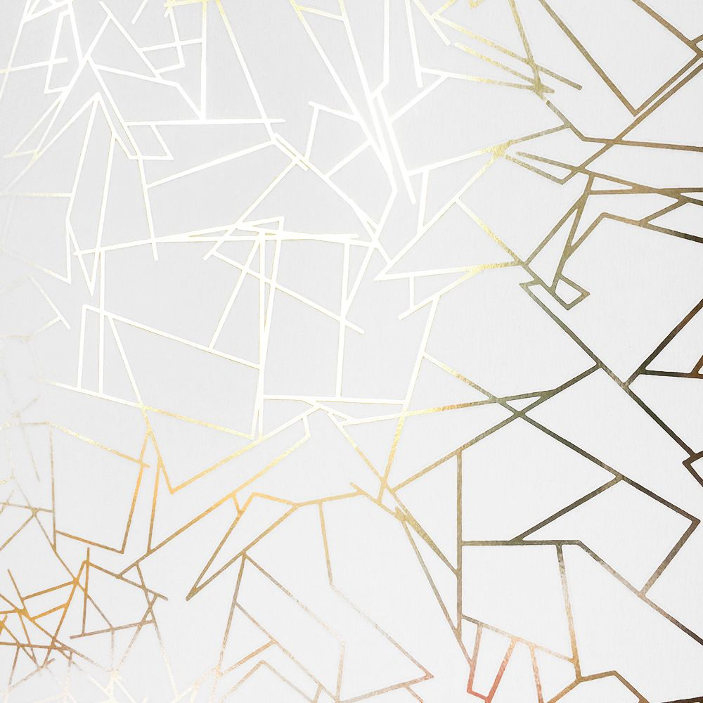 Angles Gold White Wallpaper By Erica Wakerly Wallpaper Love