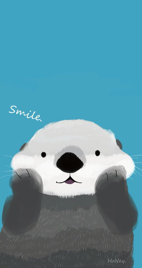 Otter Iphone Background In 2019 Free Phone Wallpaper Cute
